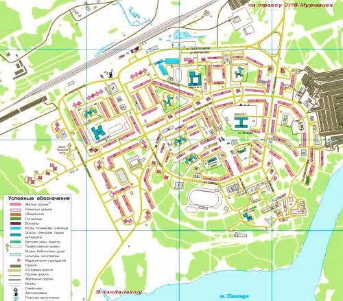 карта полярные зори с улицами